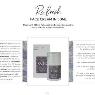 Cubid Refresh – Face Cream 125mg